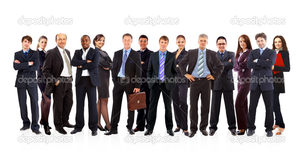 Group of business . Isolated over white background — Stock Photo #5663766