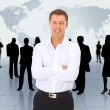 Business man and his team — Stock Photo