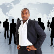 Business man and his team — Stock Photo #5705598