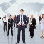 hombre de negocios y su equipo — Foto de Stock
