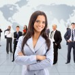 Business woman and her team - Stock Photo
