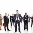 Business man and his team isolated over a white backgroun — Stock Photo #5706334