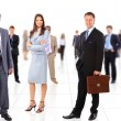 business man and his team isolated over a white backgroun — Stock Photo