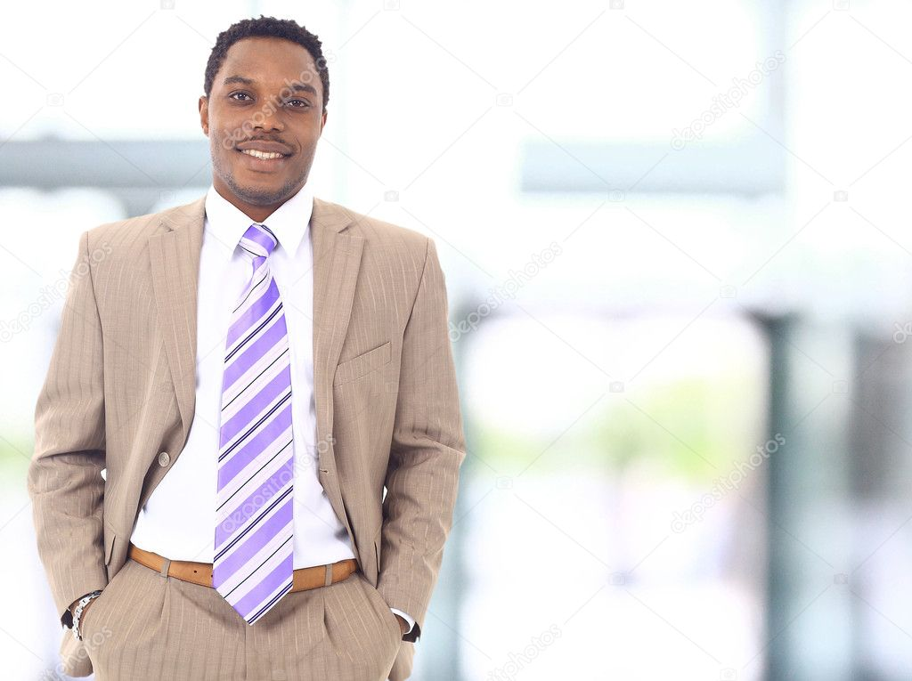 Closeup portrait of a successful African American business man   Stock Photo #5827274