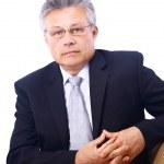Businessman isolated on white bacground — Stock Photo