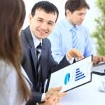 Skupina podnikání na schůzce v kanceláři - porada — Stock fotografie