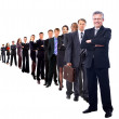 Business man and his team isolated over a white background — Stock Photo #6087590