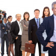 Business man and his team isolated over a white background — Stock Photo #6087873