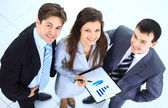 Top view of a group of business standing together — Stock Photo