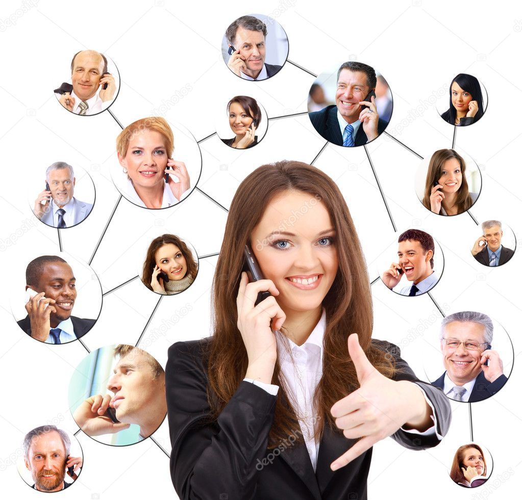 A group of talking on the phone — Stock Photo #6204161