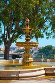Fountain in a public park — Stock Photo