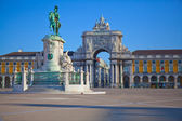Portugal, plaza del comercio en lisboa — Foto de Stock