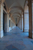 Commerce Square 18th century Arcades in Lisbon, Portugal — Stock Photo