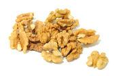 Walnuts Isolated on White Background — Stock Photo