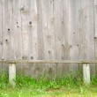 Old Bench Against Wooden Wall — Stock Photo #5964388