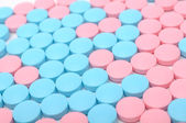Blue and Pink Pills — Stock Photo