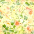 Spring Onion and Tomato Omelet — Stock Photo