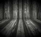 Dark Wooden Room — Stock Photo