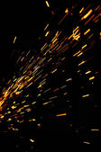 Glowing Flow of Sparks — Stock Photo