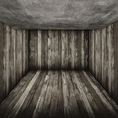 Monochrome Wooded Room — Stok fotoğraf