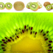 图库照片: Kiwi Fruit Set