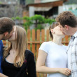 Royalty-Free Stock Photo: Kissing lovers