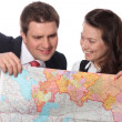 Casual couple with map — Stock Photo #6167249