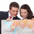 Casual couple with map — Stock Photo #6167500
