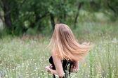 Hermoso pelo rubio — Foto de Stock