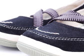 Black woman shoe — Stock Photo