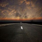 Asphaltic road — Stock Photo