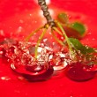Cherries tumbling — Foto Stock