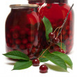 Preserved cherries - Stock Photo