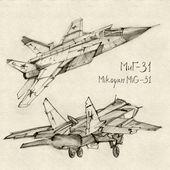 The Mikoyan MiG-31 — Stock Photo