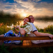 Royalty-Free Stock Photo: Couple outdoor portrait