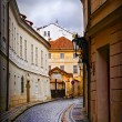 Small street in Prague — Stock Photo