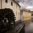 Prague Waterwheel on Certovka — Stock Photo