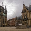 Courtyard of Saint Vitus's Cathedral — Stock Photo #6495613