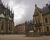 Courtyard of Saint Vitus's Cathedral — Stock Photo