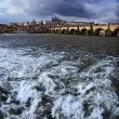 Prague panorama on charles bridge — Stock Photo #6503364