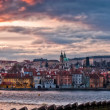 Prague panorama on sunset — Stock Photo #6503463