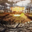 Stockfoto: Desolate old mansion