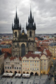 View of old Prague Church — Stock Photo