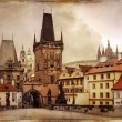 Vintage Prague - Stock Photo