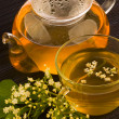 Herbal medicine, tea with elder flower — Stock Photo #6727026