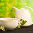 Herbal medicine, tea with hawthorn flower — Stock Photo #6727034