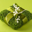 Floristic gift box — Stock Photo