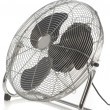 Metal ventilating fan for wind blower isolated on the white background - Stock Photo