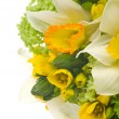 Wedding bouquet with daffodil - Stockfoto