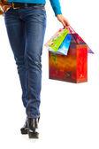 Women with shopping bags — Foto de Stock